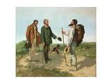 Bonjour, Monsieur Courbet Reproduction procédé giclée par Gustave Courbet