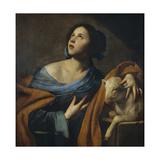 Saint Agnes Giclée-tryk af Massimo Stanzione
