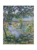 The Terrace at Vétheuil Giclée-Druck von Claude Monet
