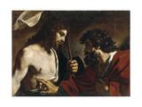 The Incredulity of Saint Thomas Lámina giclée por  Guercino