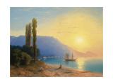 Sunset over Yalta Giclée-tryk af Ivan Konstantinovich Aivazovsky