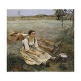Hay Making, 1877 Giclée-vedos tekijänä Jules Bastien-Lepage