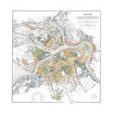 Map of Petersburg Giclée-Druck