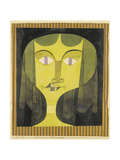 Portrait of a Violet-Eyed Woman Giclee Print by Paul Klee