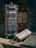 Scrolls of the Torah, Torah Cover and the Ten Commandments, 1797 Photographic Print
