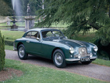 A 1952 Aston Martin Db2 Saloon Car Photographed in a Stately Garden Reproduction photographique