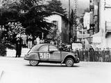 A Citroën 2CV in the Monte Carlo Rally, 1954 Photographic Print