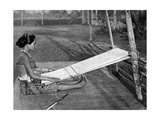 Iban Weaver, Borneo, 1922 Giclee Print by Charles Hose