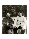 Stalin and Lenin. August 1922, 1922 Reproduction procédé giclée