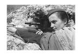 Sniper Lyudmila Pavlichenko (1916-197), 1942 Giclée-Druck