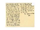 Letter from John Keats to His Sister, Fanny Keats, 14th August 1820 Giclee Print by John Keats