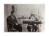 Leo Tolstoy and Anton Chekhov, Russian Authors, 1902 Giclee Print by Sophia Tolstaya
