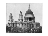 St Paul's Cathedral, London, Late 19th Century Giclee Print by John L Stoddard