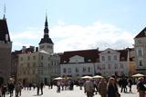 Town Hall Square and St Nicholas' Church, Tallinn, Estonia, 2011 Photographic Print by Sheldon Marshall