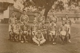 The Battalion Hockey Team of the First Battalion, the Queen's Own Royal West Kent Regiment Fotografie-Druck
