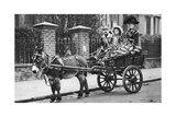 Pearly Family in their Donkey-Drawn Moke, London, 1926-1927 Giclee Print by  McLeish