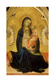 The Virgin and Child with Angels (Madonna of Humilit), C1408-C1410 Giclée-tryk af Lorenzo Monaco