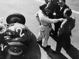 Giuseppe Farina and Alfa Romeo 159, French Grand Prix, Rheims, 1951 Fotografisk trykk