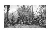 Native Women with Baskets of Hippo Meat, Karoo, South Africa, 1924 Lámina giclée por Thomas A Glover