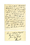 Letter from John Russell to Edward Maltby, Bishop of Durham, 4th November 1850 Giclee Print by John Russell