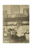 Russian Author Leo Tolstoy at Work, 1890s Giclee Print by Sophia Tolstaya