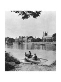 Ferry across the Thames to the 'London Apprentice' Inn, Isleworth, London, 1926-1927 Giclee Print by  McLeish