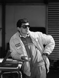 Ayrton Senna, 1987 Reproducción de lámina sobre lienzo