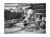 Clarifying Sugar Cane Juce, Annam, Vietnam, 1922 Giclée-vedos