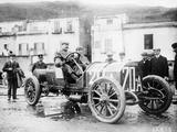 Vincenzo Lancia Taking Part in the Targa Florio Race, Sicily, April 1907 Photographic Print