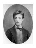 Arthur Rimbaud, French Poet and Adventurer, 1870 Reproduction procédé giclée