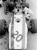 John Surtees in Honda V12, Belgian Grand Prix, 1968 Fotografisk trykk