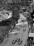 Start of the Monaco Grand Prix, 1964 Reproduction photographique