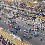 Cars Lining Up on the Starting Grid, French Grand Prix, Le Mans, France, 1967 Lámina fotográfica