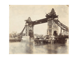 Tower Bridge under Construction, London, C1893 Lámina fotográfica