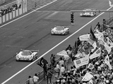 Jaguars Taking the First Two Places at the Le Mans 24 Hours, France, 1990 Photographic Print
