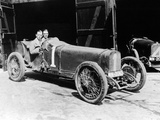 Kenelm Lee Guinness and Perkins with an 8 Cylinder Sunbeam, 1922 Fotografisk tryk