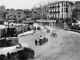 Action from the Monaco Grand Prix, 1929 Photographic Print