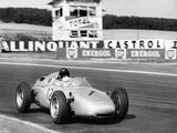Dan Gurney Driving a Porsche, French Grand Prix, Rheims, 1961 Fotografisk trykk