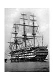 The Training Ship HMS 'St Vincent' at Portsmouth, Hampshire, 1896 Stampa giclée di  Symonds & Co