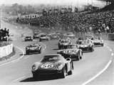 Start of the Le Mans 24 Hours, France, 1964 Fotografisk tryk