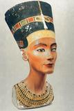 Bust of Nefertiti, Queen and Wife of the Ancient Egyptian Pharaoh Akhenaten (Amenhotep I) Fotografisk tryk