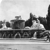 The Wittelsbacherbrunnen, Munich, Germany, C1900s Reproduction photographique par  Wurthle & Sons