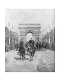 Marshals Foch and Joffre During the Grand Victory Parade, Paris, France, 14 July 1919 Giclée-vedos