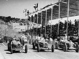The Starting Grid for the Nice Grand Prix, 1934 Reproduction photographique