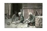 Spinning Cotton, Japan, 1904 Giclée-tryk
