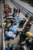 Cars at the British Grand Prix, Silverstone, Northamptonshire, 1969 Fotografie-Druck