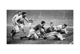 England Scoring a Try Against Scotland, Twickenham, London, 1926-1927 Reproduction procédé giclée