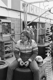 Derek Bell in the Pits Photographic Print