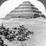 The Pyramid of Sakkarah, Egypt, 1905 Impressão fotográfica por  Underwood & Underwood