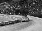 Porsche 356 Taking a Corner in the Monte Carlo Rally, 1954 Reproduction photographique